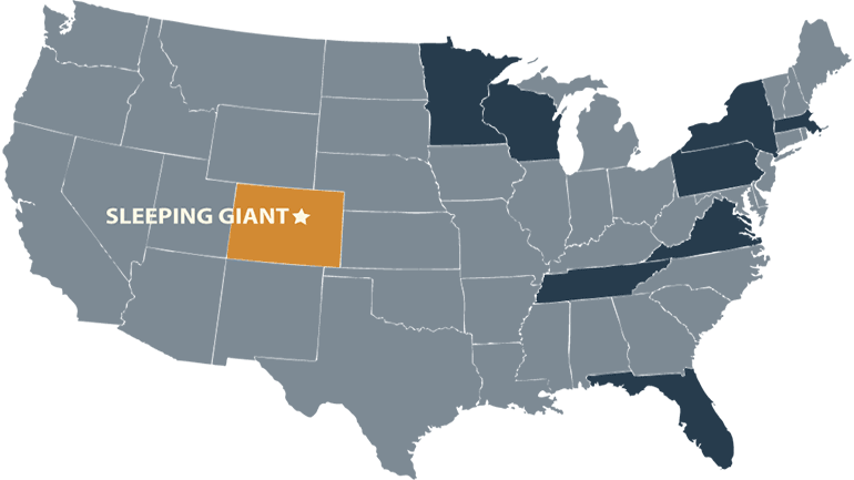 Sleeping Giant Brewery Locations Map